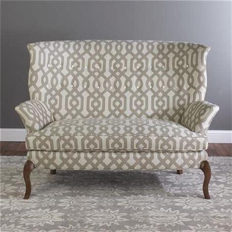high back settee upholstered high back settee shades of light