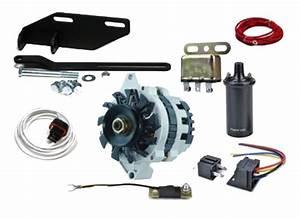 Street Rod Parts  U00bb 12 Volt 63 Amp Conversion Kit For Foot Pedal Starter W   3  8 U0026quot  Pulley