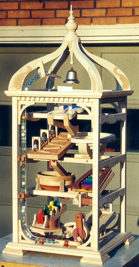 cool marble run toy  feeds  marbles