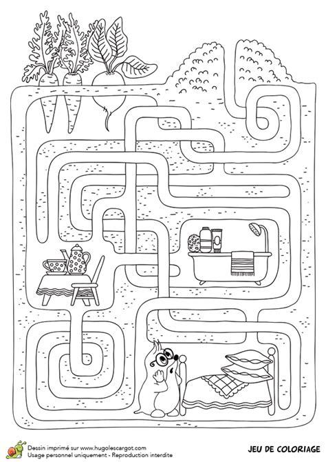 potager cuisine dessin à colorier le jeu du labyrinthe de la taupe