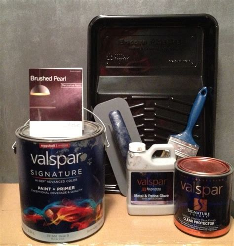 valspar signature colors brushed pearl faux finish we used allen roth colors by valspar