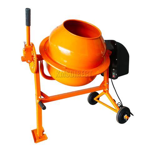 foxhunter 250w electric concrete cement mixer mortar plaster machine 70l drum ebay