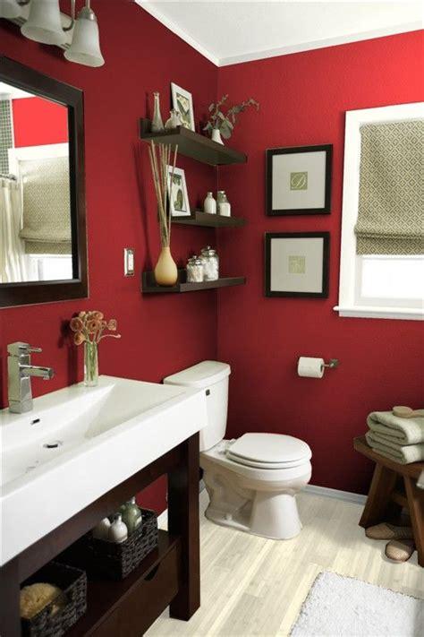 vibrant red bathrooms    decor dazzle decor