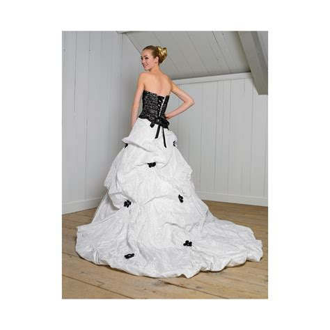 black and white wedding dresses black and white lace flowers strapless gown corset taffeta
