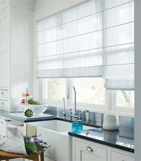 Country Kitchen Decorating Ideas - 20 beautiful window treatment ideas for kitchen and bathroom decorating roman shades