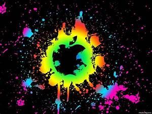 Neon apple logo wallpaper   Apple   Pinterest   Logos ...