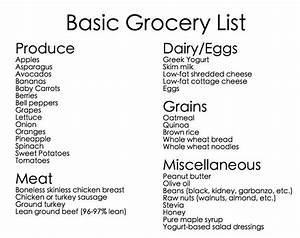 Want to eat healthy? Use the BASIC GROCERY LIST and stock ...