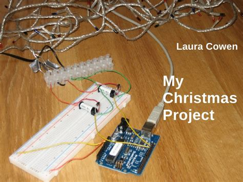 arduino christmas lights to monitor energy