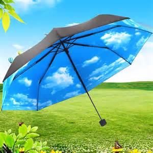 Parasol De Terrasse Anti Uv by Anti Uv Sun Protection Umbrella Blue Sky 3 Folding