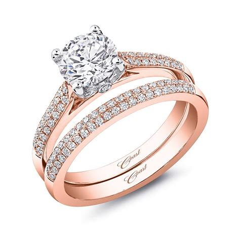 rose gold diamond engagement ring love coast