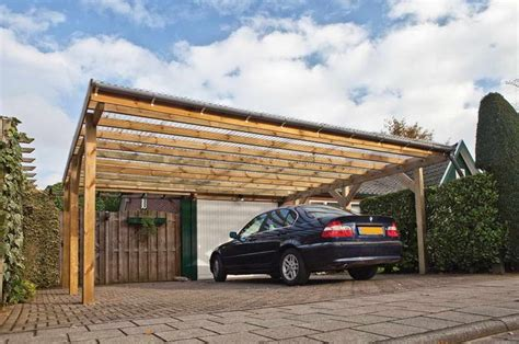 Two Cars Carport Design With Simple Garage Designs