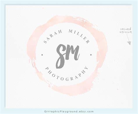 premade logo watercolor logo photography logo wedding