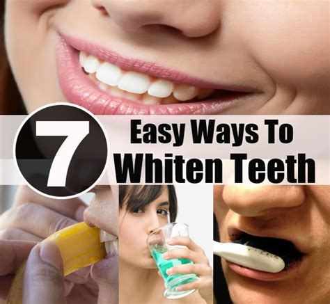 7 Remarkably Easy Ways To Whiten Teeth Naturally Diy