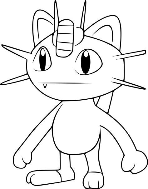 Coloriage Miaouss Pokemon Go à Imprimer Sur Coloriages Info