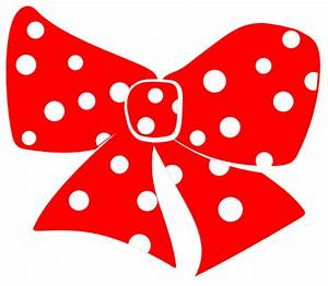 Red Polka Dot Bow Clipart - Clipart Suggest