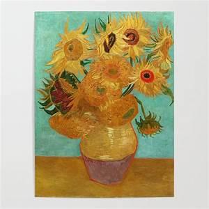 Vincent Van Gogh Twelve Sunflowers In A Vase Poster by ...