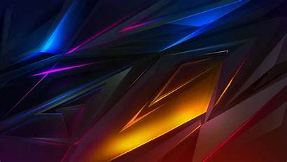 4k Abstract 3d Polygon Dark Colorful Ultra