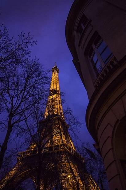 Tower Eiffel Night Paris Unsplash Aesthetic Desktop