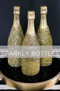 go for the gold with these diy sparkly bottles evite