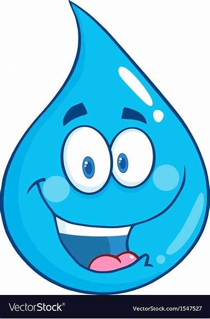 Water Droplet Cartoon Character Drop Agua Gota