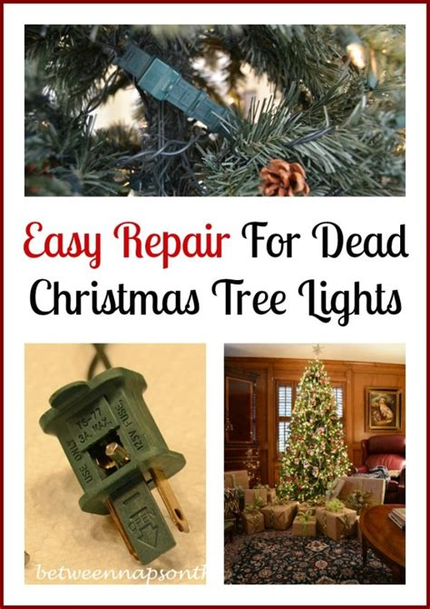 christmas tree light problems how to find blown bulb how to repair or fix a blown fuse on your tree lights