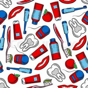 Oral hygiene and dental care colorful background with ...