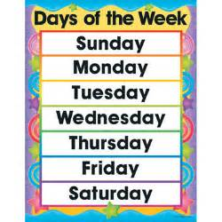 Names of the Week Days Clip Art