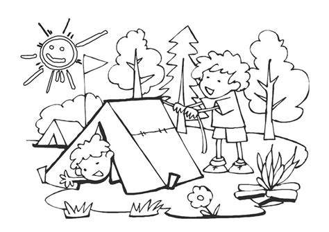 camping coloring pages  coloring pages  kids