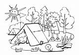 Camping Coloring Pages Colouring Sheets Tent Fun sketch template