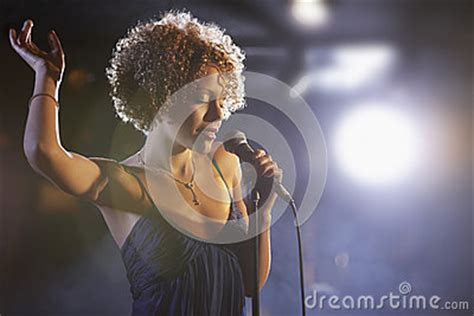 female jazz singer  stage royalty  stock images