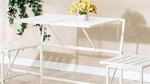 Table De Balcon Pliante : table de balcon mobilier de jardin en bois pas cher ~ Melissatoandfro.com Idées de Décoration