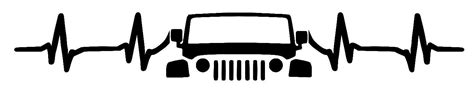 jeep heartbeat jk heart beat jeep decal by jeepdivadecals on etsy