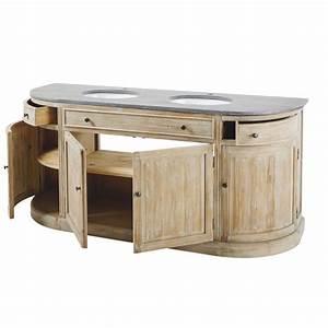 Meuble De Salle De Bain Maison Du Monde : meuble double vasque en pin recycl et pierre bleue leonce maisons du monde ~ Melissatoandfro.com Idées de Décoration