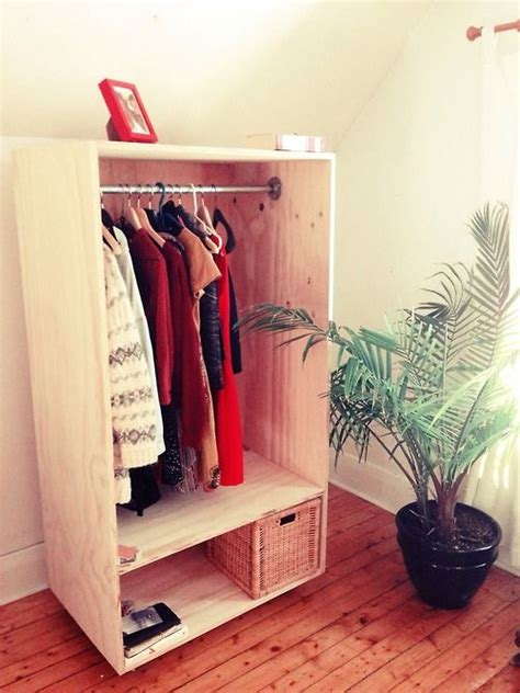 Standing Coat Closet by Some Diy From The Weekend Free Standing Closet On Wheels