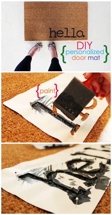 diy mat easy project for summer diy personalized door mats home decor personalized door mats front