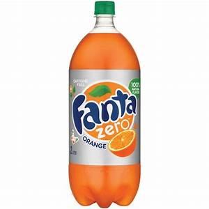 Fanta Zero Caffeine-free Orange Soda  2 L - Walmart Com