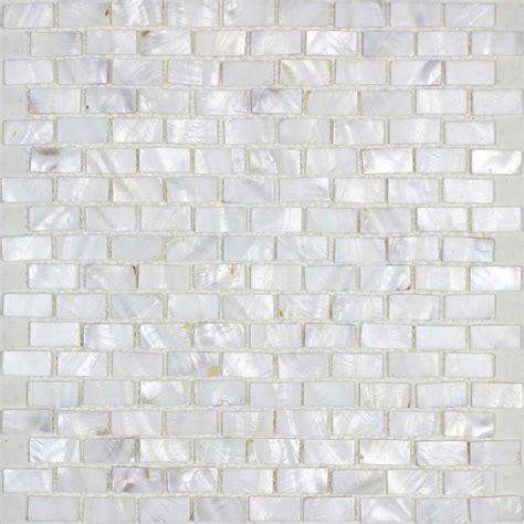 mother of pearl tile backsplash white freshwater shell