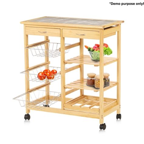 wooden kitchen storage trolley wooden kitchen storage trolley w wine rack 1647