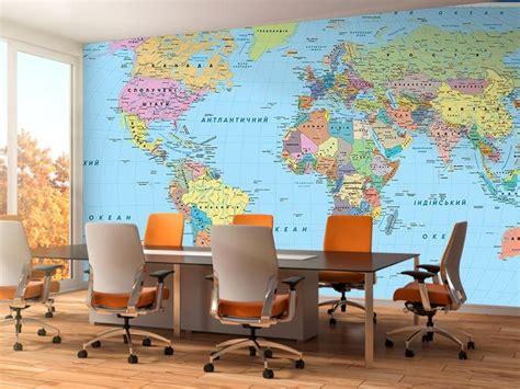 Фотообої Карта з прапорами українською купити на стіну ...