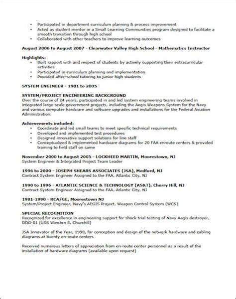 Exles Of Resumes For Teachers by Teaching Resume Exle Sle Resume