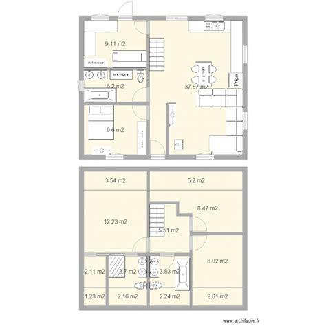 canapé 3 metres maison a etage facade 10m plan 17 pièces 124 m2 dessiné