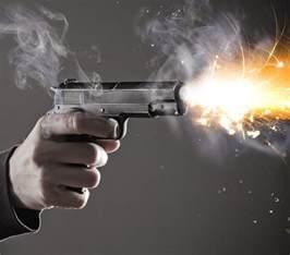 Gun Shooting Bullet