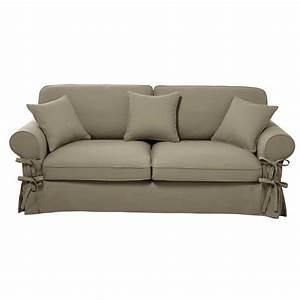 Lit 4 Places : canap lit 3 4 places en coton beige matelas 12 cm maisons du monde ~ Teatrodelosmanantiales.com Idées de Décoration