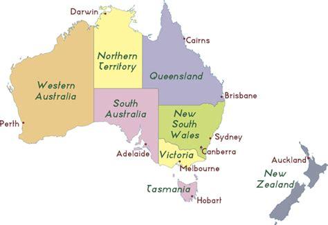 map  australia   zealand  cities