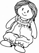 Coloring Doll Paper Printable sketch template