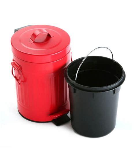 poubelle de cuisine à pédale poubelle de cuisine rétro en métal 20l