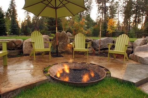 It's substantial size is great for larger overall, the century modern outdoor fire pit is a stunning concrete fire table. Concrete Patio - Mead, WA - Photo Gallery - Landscaping Network