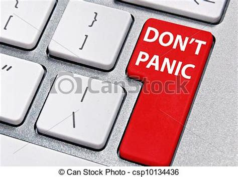 Stock Photos Of Don't Panic  Computer Key Labelled Don't