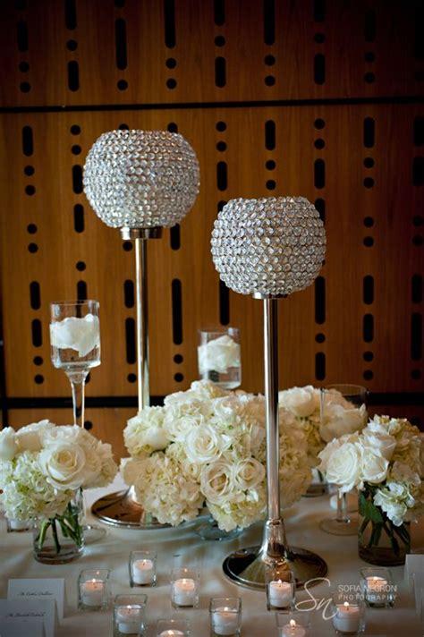 crystal centerpieces ideas  pinterest bling