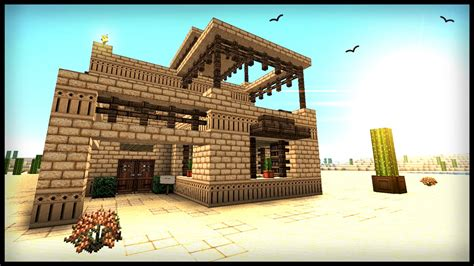 build  middle eastern desert house minecraft tutorial youtube